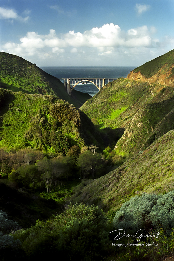bixby bridge, bixby gorge, big sur, charles purcell, california, dana garrett, pinyon mountain studios