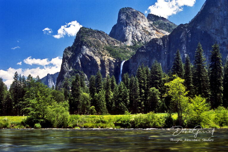 Merced River, Bridal Veil, Cathedral Rock, Yosemite, mountain, waterfall, river, california, dana garrett, pinyon mountain studios