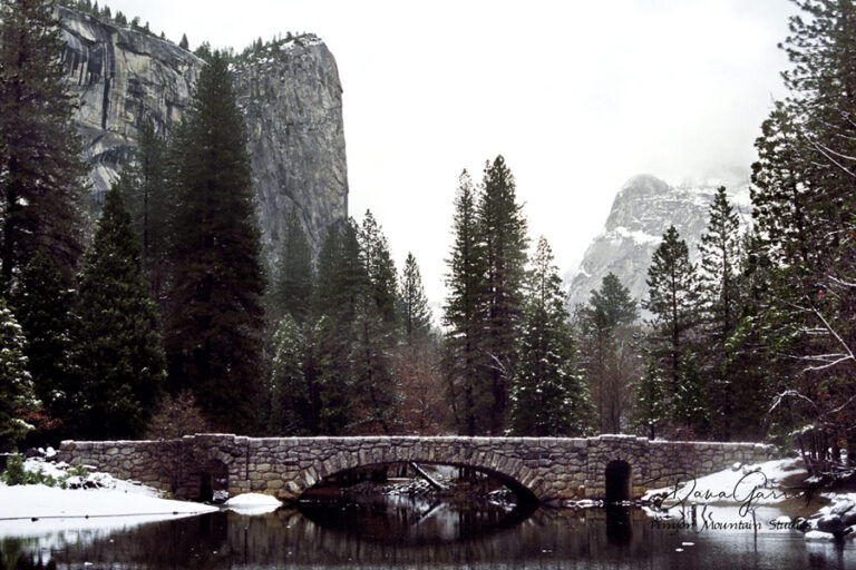 stoneman bridge, merced, merced river, river, yosemite, winter, dana garrett, pinyon mountain studios, pinyon mtn studios