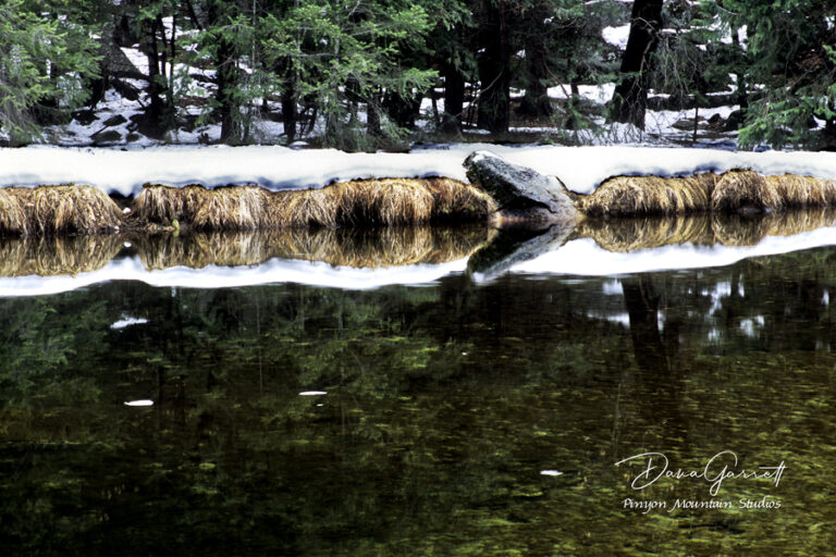 tenaya creek, yosemite, stone, reflection, mirror lake, arrowhead, california, dana garrett, pinyon mountain studios